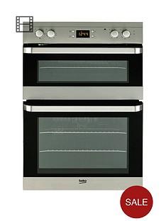 beko-odf22300x-60cm-built-in-electric-fan-double-oven-stainless-steel