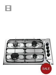 hotpoint-newstyle-g640sx-60cm-built-in-gas-hob-with-fsd-stainless-steel