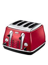 CTOM4003 1800 Watt Micalite Icona 4-Slice Toaster - Red