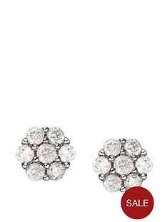 love-diamond-9-carat-white-gold-25pt-diamond-cluster-earrings