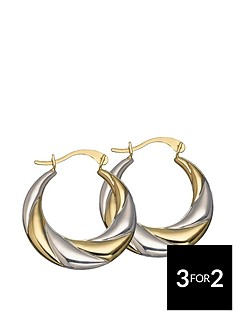 love-gold-9-carat-2-colour-gold-creole-earrings