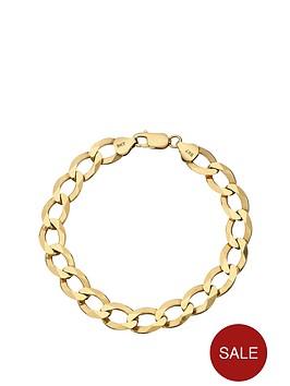 love-gold-9-carat-yellow-gold-solid-diamond-cut-approx-14oz-curb-bracelet-8-inch