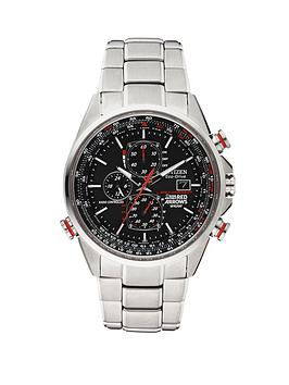Citizen Eco-Drive Red Arrows World Chronograph A.T. Radio-Controlled Bracelet Mens Watch