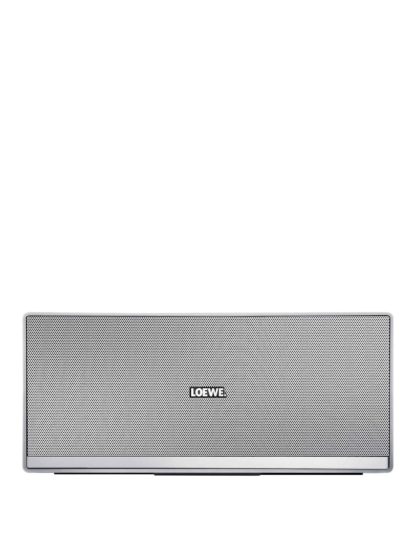 LOEWE Speaker 2go Aluminium Portable Bluetooth Speaker with NFC - Silver