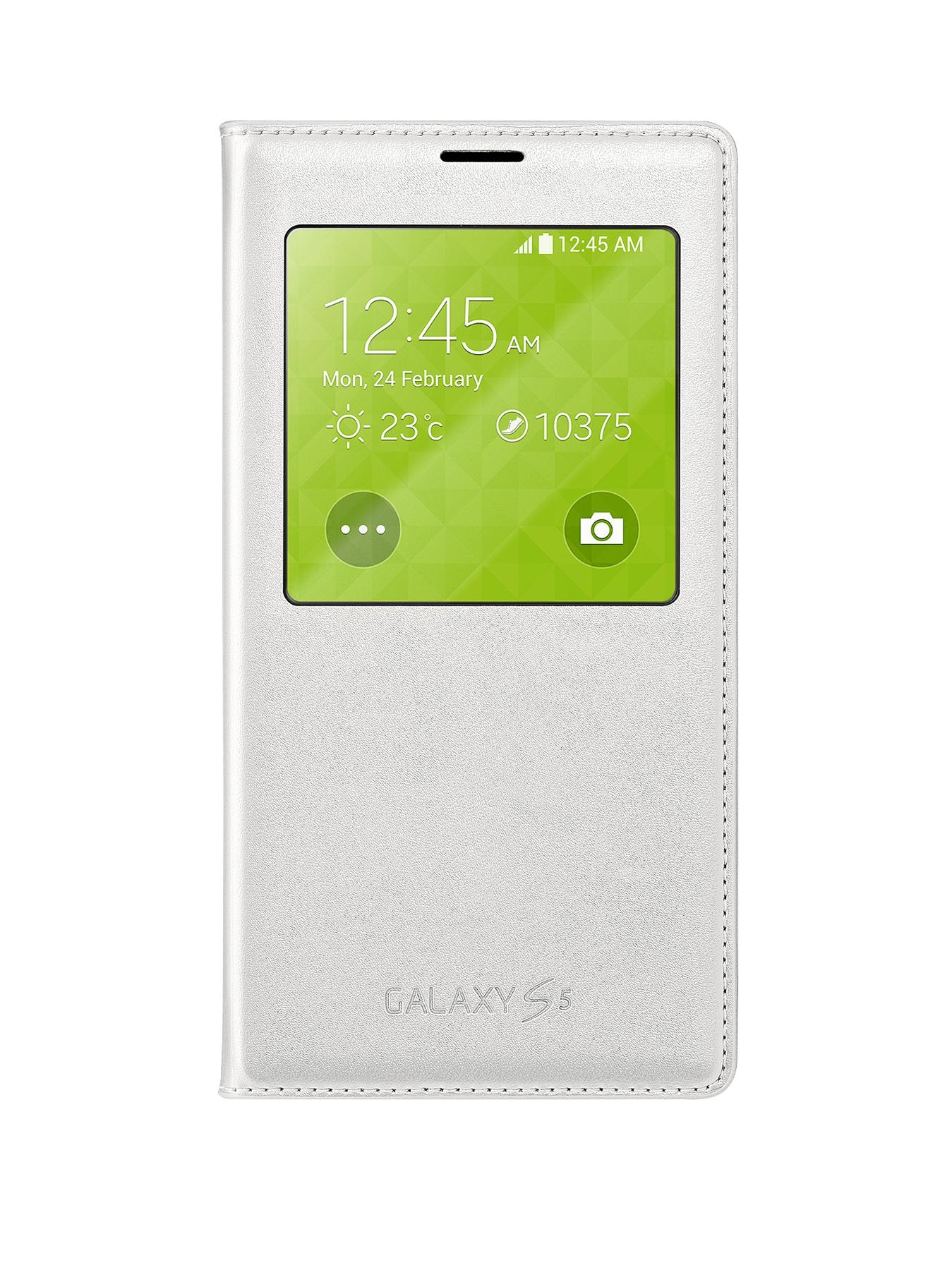 Samsung Original Galaxy S5 S-View Cover - White