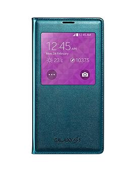 samsung-original-galaxy-s5-s-view-cover-blue-topaz