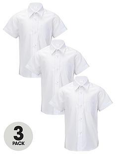 top-class-boys-short-sleeve-school-shirts-3-pack