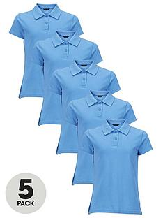 top-class-girls-school-uniform-polo-shirts-5-pack