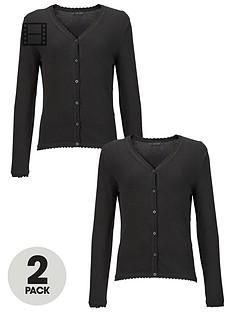 top-class-girls-school-uniform-cotton-rich-cardigans-2-pack