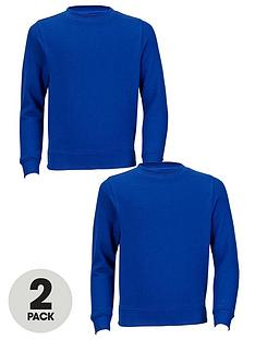 Top Class Unisex Crew Neck School Jumpers (2 Pack)