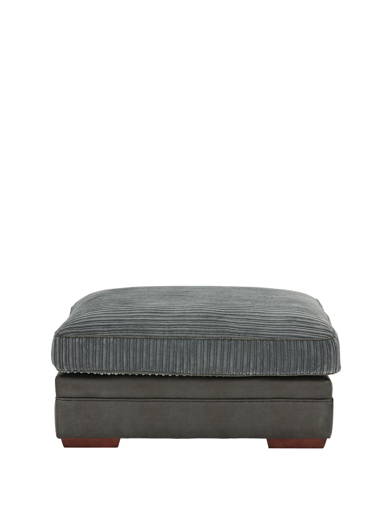Andorra Footstool - Charcoal, Charcoal,Black,Chocolate