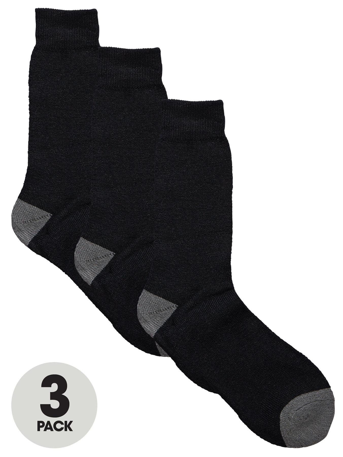 Blackrock Mens Workman Socks (3 Pack) - Black, Black
