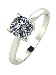 moissanite-18-carat-white-gold-100pt-equivalent-moissanite-cushion-cut-ring