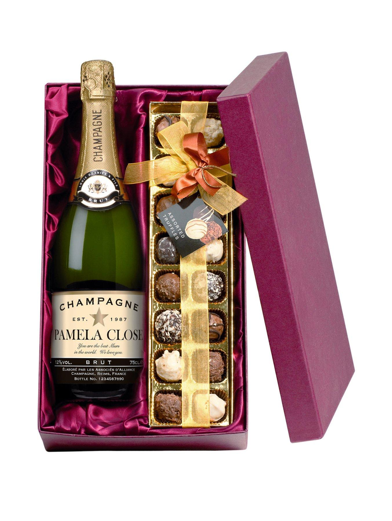 Personalised Champagne & Chocolates