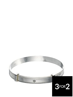 the-love-silver-collection-sterling-silver-diamond-set-babies-expander-bangle