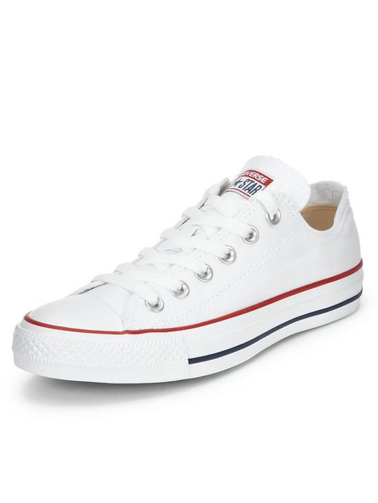 344128588a846 Converse Chuck Taylor All Star Ox Plimsolls - White