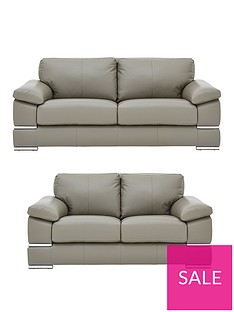 53d31d04c081 Primo Italian Leather 3 Seater + 2 Seater Sofa Set (Buy and SAVE!)