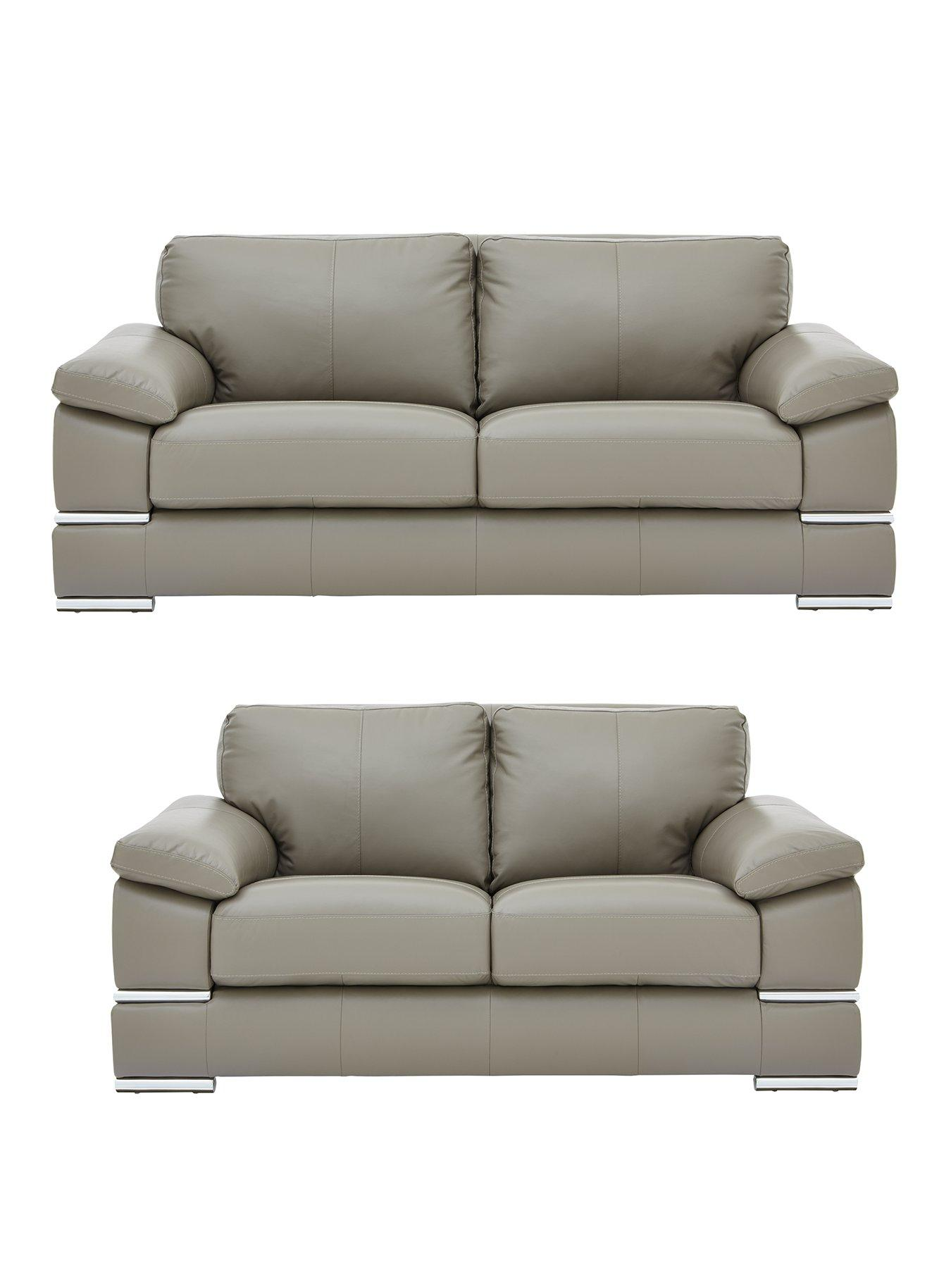 Grey | Leather Sofas | Sofas | Home U0026 Garden | Www.very.co.uk