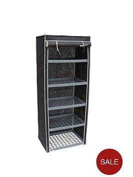 new-ideal-5-shelf-canvas-storage-unit-black