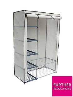 new-ideal-double-canvas-wardrobe-with-shelves