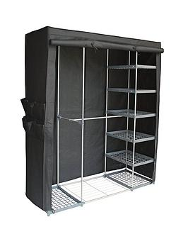 new-ideal-triple-canvas-wardrobe-with-shelves