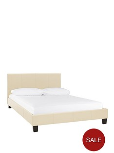 esme-faux-leather-bed-frame-and-optional-mattress