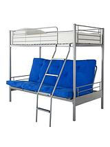 Montana Bunk Bed with Double Futon Underbed and Optional Mattress