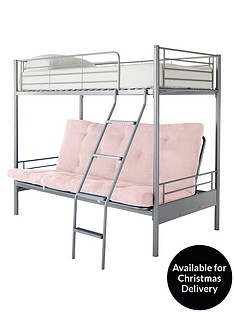 kidspace-montana-bunk-bed-with-double-futon-underbed-and-optional-mattress