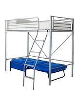 Montana High Sleeper with Single Futon Underbed and Optional Mattress