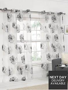 floral-printed-eyelet-voile-panel