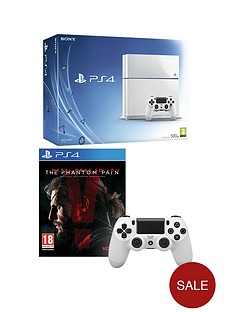 playstation-4-500gb-white-console-with-metal-gear-solid-v-the-phantom-pain-and-optional-12-months-playstation-plus-and-and-extra-controller