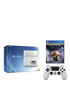playstation-4-500gb-white-console-with-destiny-the-taken-king-legendary-edition-and-optional-12-months-playstation-plus-andor-extra-controller