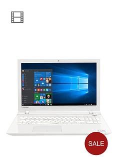 toshiba-l50-c-1pe-intelreg-pentiumreg-quad-core-processor-4gb-ram-1tb-hdd-storage-156-inch-laptop-with-optional-microsoft-office-365-white