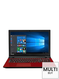 toshiba-l50-c-1pd-intelreg-pentiumreg-quad-core-processor-4gb-ram-1tb-hdd-storage-156-inch-laptop-with-optional-microsoft-office-365-red