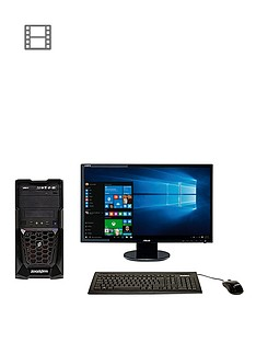 zoostorm-quest-desktop-pc-bundle-blackred-amd-a10-7850k-processor-36ghz-8gb-ram-2tb-hdd-amd-radeon-r7-graphics-dvdrw-wi-fi-windows-10-236-inch-fhd-monitor