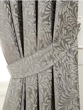 luxury-heavyweight-fern-jacquard-tie-backs-pair