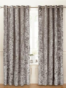 Curtains Ideas charcoal and cream curtains : Luxury Crushed Velvet Eyelet Curtains | very.co.uk