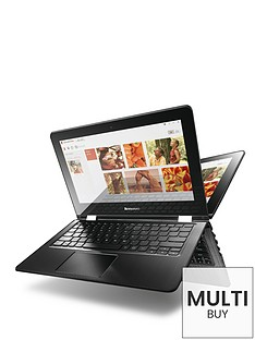 lenovo-yoga-300-intelreg-pentiumreg-processor-4gb-ram-500gb-hard-drive-116-inch-touchscreen-2-in1-laptop-with-optional-microsoft-office-365-white
