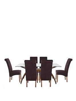 knox-180-cm-dining-table-6-plain-fabric-brook-chairs