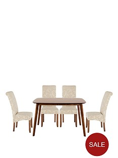 charles-120cm-table-with-4-brook-floral-fabric-chairs