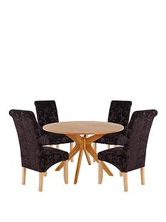 starburst-120cm-table-with-4-brook-floral-fabric-chairs