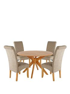 starburst-120cm-table-with-4-brook-plain-fabric-chairs