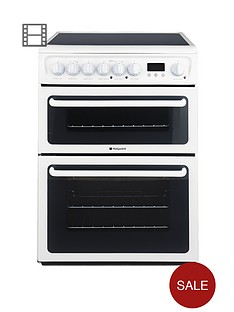 hotpoint-hae60ps-ultima-60cm-ceramic-hob-double-oven-electric-cooker-white