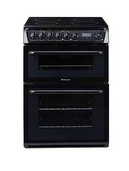 hotpoint-hae60ks-60cm-ceramic-hob-double-oven-electric-cooker-black