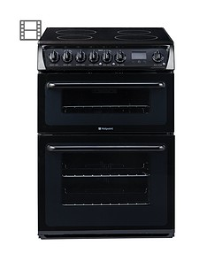 hotpoint-hae60ks-60cm-double-oven-electric-cooker-with-ceramic-hob-black