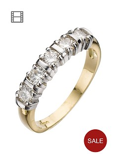 moissanite-18-carat-yellow-gold-50-point-5-stone-eternity-ring