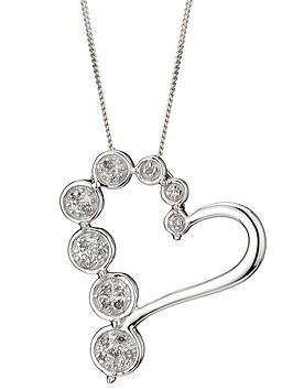 love-diamond-9-carat-white-gold-5-point-diamond-bubble-heart-pendant