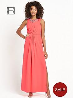 definitions-petite-embellished-neckline-maxi-dress