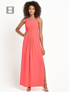 definitions-petite-embellished-neckline-maxi-dress