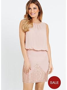 samantha-faiers-bugle-bead-skirt-dress